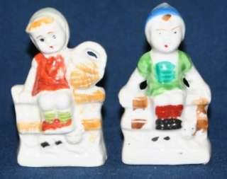 Vintage Set Children Made in Japan Boy Girl Figurines