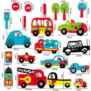 TRANSPORTA​TION Cars Nursery Home Wall Sticker Art Decor
