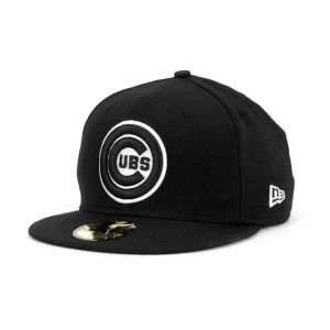 Chicago Cubs MLB Black and White Fashion Hat