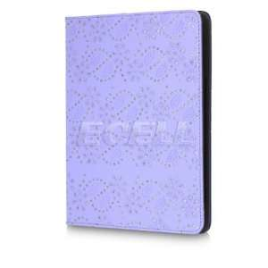 PURPLE CRYSTAL DIAMOND LEATHER CASE STAND FOR IPAD 2 Electronics