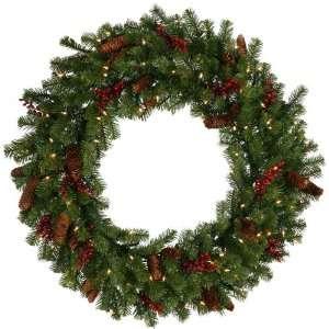 36 Pine Wreath 100 Dura Lit Clear Lights 296T