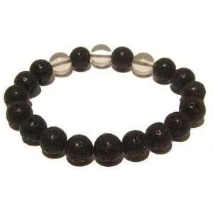 05 Stretch Quartz Black Clear Crystal Healing Gem Stone 7.9 Jewelry