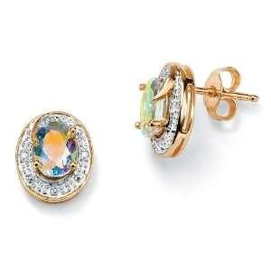 Gold Golden Mystic Topaz & Diamond Accent Pierced Earrings Jewelry