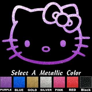 Hello Kitty PURPLE GLITTER Window Stickers Decals HOT