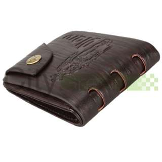 Mens PU Leather Wallet Pockets Card Bi fold Purse Short Wallet