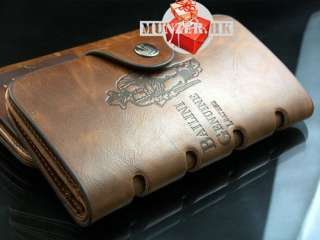 Leather Long Wallet Pockets Card Clutch Cente Bifold Purse Pass case