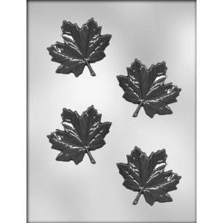 CK Products 1 1/4 Inch Maple Leaves Chocolate Mold: