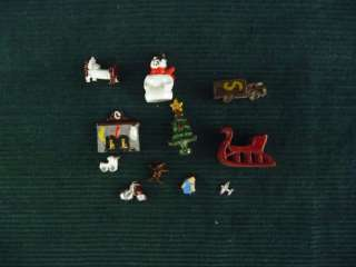19 Miniature Doll House 1/144th or N scale Christmas tree fireplace