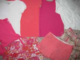 Girls 53 pc wardrobe lot GAP JUSTICE GYMBOREE graphic shirt tank short