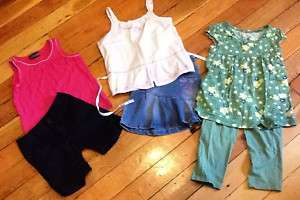 lot of girls summer OUTFITS shorts, tops, capris 6 slim