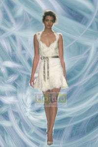 Short Lacework Bridal Wedding Dress/Gown Custom made