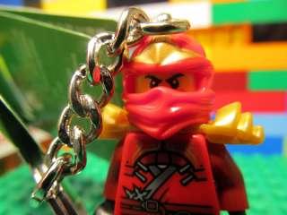 LEGO Ninjago KAI minifigure Key Chain   RED ninja kendo