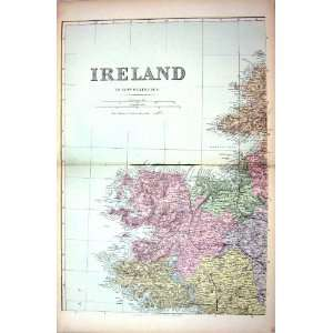 Bacon Antique Map 1883 Ireland Donegal Bay Mayo Galway: Home & Kitchen