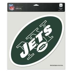 New York Jets Die Cut Decal   8x8 Color  Sports