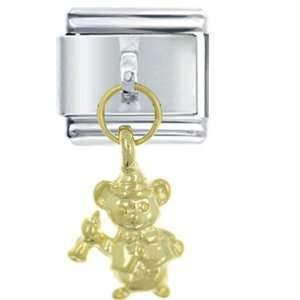 Dangle Golden Teddy Bear Italian Charm Pugster Jewelry