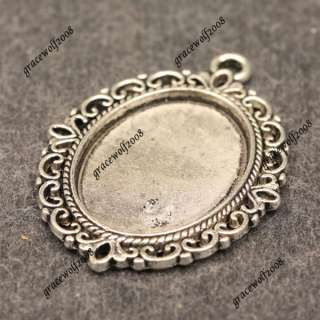 Charms Oval Cabochon Settings Vintage Jewelry Findings ZB97