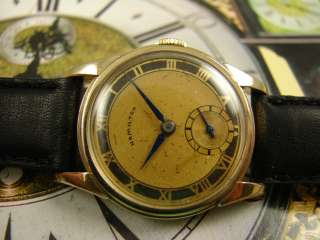 FINE 1940s HAMILTON 10k GOLD FILLED MENs 987A WATCH ROMAN NUMERALS TWO