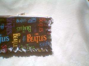 Rag quilt coin change purse Beatles