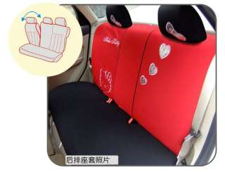 Car Breathable cloth Seat Cover 10pcs four color pink,gray,red