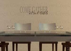 Gather Table Wall Lettering Words Decor Vinyl Art 30x8