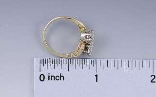BEAUTIFUL BYPASS SETTING 14K YELLOW & WHITE GOLD DIAMOND RING