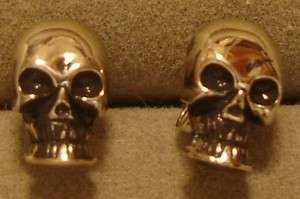 "Third Rail"" Licenced Sterling Silver Skull Post Earrings"
