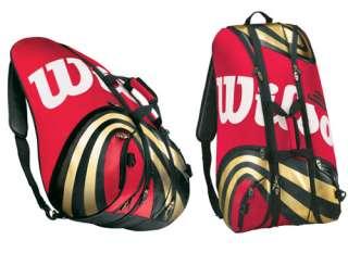 TOUR SUPER SIX 6 pack tennis racquet racket bag New Authorized Dealer