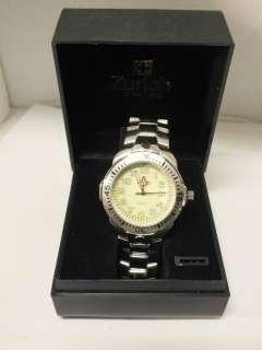 Zurich Swiss mens silver tone champagne dial quartz watch 6399