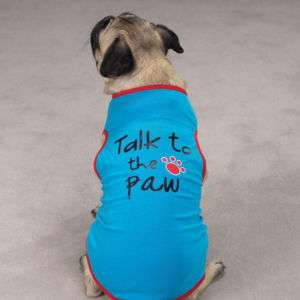 Casual Canine Talk to the Paw Dog Tank T Shirt XXS XL