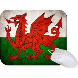 Rikki Knight Wales Flag Mouse Pad Mousepad   Ideal Gift for all