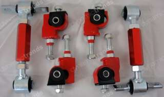 DESCRIPTION RED JDM ADJUSTABLE LOWERING COILOVER SPRINGS + FRONT AND