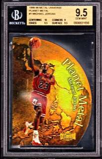 UNIVERSE PLANET METAL #1 MICHAEL JORDAN BGS 9.5 ULTRA RARE DIE CUT