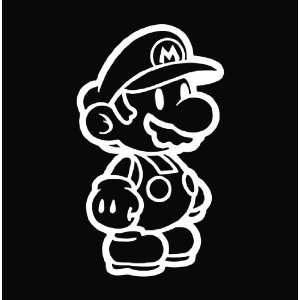 Mario Brothers Game Vinyl Die Cut Decal Sticker 6 White