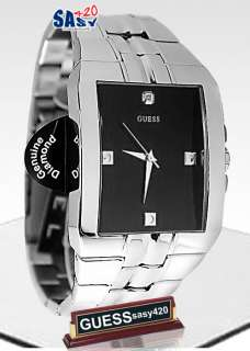 GUESS U10014G1 Men Silver Stainless Steel Diamond Watch
