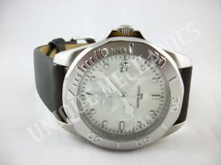 Invicta 0006 Pro Diver Marble Dial Leather Lining Stainless Steel