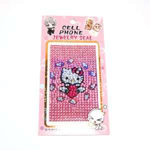 HELLO KITTY lovely cellphone crystal sticker for iphone 3G