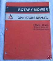 Allis Chalmers 3 Blade Rotary Mower Operators Manual