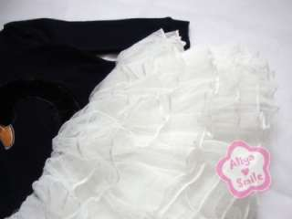 NWT Swan Princess Girls Tutu Skirt Dress Kids Costume Size 3 9Yrs
