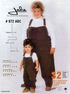 Jalie Overalls   Women S 6X & Girls 2 14 Sewing Pattern