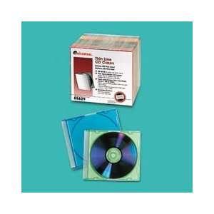 Universal Thin Line PolystyreneCD/DVD Storage Cases