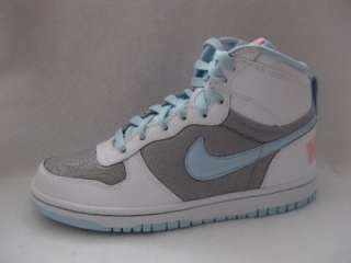 NIKE CHILDREN GIRLS WHITE BLUE HIGH TOP SHOE TENNIS SNEAKER SIZE 5.5 Y