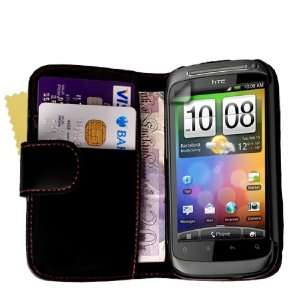 Brand New Black Leather Wallet Case Cover Magnetic Close