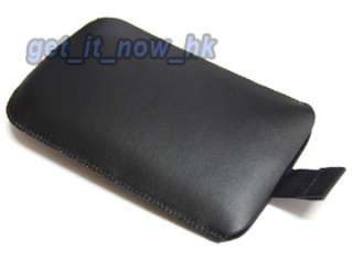 Black Leather Case Cover Slide For Samsung Galaxy S Plus i9001 i9000