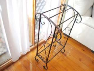 Wrought Iron French Vintage Bathroom Towel Rack Stand