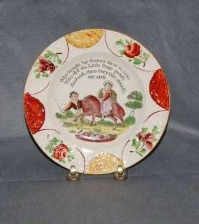 Antique English Pearlware Pottery My Son Childs Plate