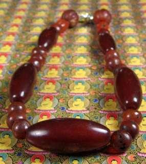 Old Tibetan RED Carnelian Spiritual Bead necklace