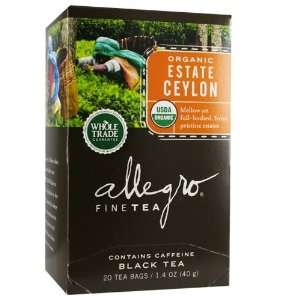 Allegro Organic Estate Ceylon, 20 tea bags:  Grocery