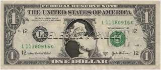Santa Claus Dollar Bill Real $$ Celebrity Novelty Collectible Holiday