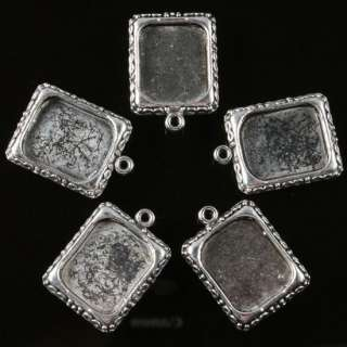 25X TIBETAN SILVER PHOTO FRAME CHARMS PENDANTS FINDINGS