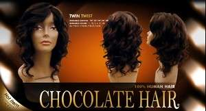 Chocolate Hair Twin Twist 10   100% Human Hair Weave